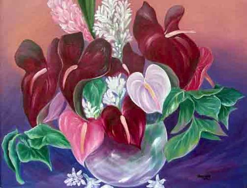 oil anthuriums and tuberose