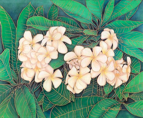 silk white plumeria